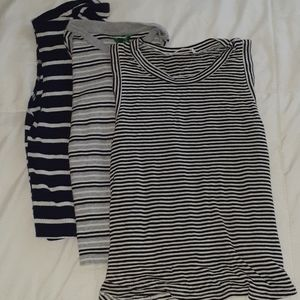 SET OF 3 Striped crops